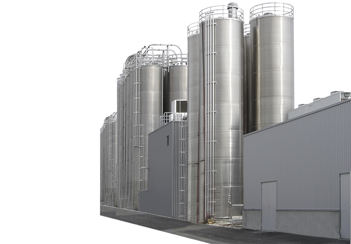 Float block image outdoor silos